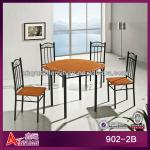 902-2B newest metal frame round top modern corner dining set