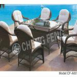 Best-Selling Rectangular Patio Dining Table and Chairs CF- A007