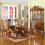 WOODEN DINING ROOM SET W/FABRIC#DC901F/dining room furniture sets
