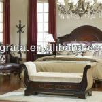 2013 luxury wooden bed was made of Northeast China ash