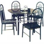 glass top ,metal chair,high quality furniture