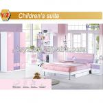new design pink girl bedroom set