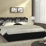 1003 black with white classic flower fabric antique bedroom furniture set