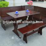 2014USA espresso corner Dining Nook,espresso Dining room furniture Breakfast corner nook