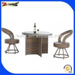 ZT-1123CT antique design Aluminum rattan rotatable dining furniture