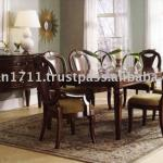 French wooden dining room