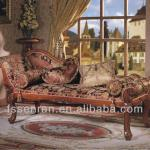 Chaise longue, solid wood bed stool, solid wood carved bed stool