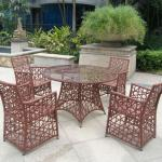 Rattan dining table chair furniture New design outdoor polyester fabric