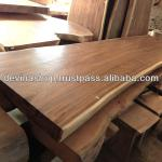 Suar Wood Solid Slab Wood Dining Table 3 meter