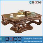 Hot Sell Antique Cheap Glass Wooden Coffee Table C-8003