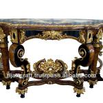 Antique Barouque Style Panel Wooden Carved Console Table-Console Table