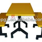 Classical Design Canteen Fiberglass Table for School or outside