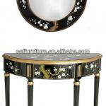 antique reproduction furniture lacquer console table mirror