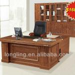 LD-181 Simple design veneer cover executive table