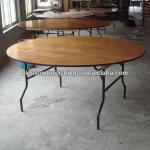 72 Round Wood Folding Banquet Table