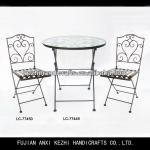 antique cheap metal dinning tables and chairs