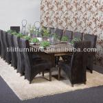 Oak solid wooden dining table, extendable dining table set