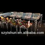 fashionable clear acrylic table ,luxury transparent furniture