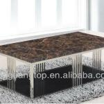 Modern Design Marble Top Stainless Frame TV Stand-AS003