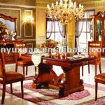 European Style High Class Marble Long Dining Table with Wooden Dining Chairs T216C#-T216C#