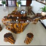CHINESE HAND CARVED CAMPHOR TREE ROOT TABLE-YHC012