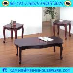 3pcs wooden cherry coffee table