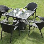 space-saving cheap black dining table set