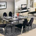DT-1213 glass top dining tables and chairs