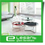 2014 Hibow Furniture Stainless Steel Table and Glass Coffee Table-CA201,202,203