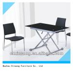 Tempered Glass folding design Dining Table