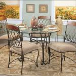 Classical Glass top Dining Table and chairs set