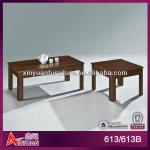 wood coffee table with natural stone-613 / 613B