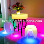 antique RGB led table round top&colorful dining table