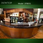 DTB031 Classic Black Curved bar counter for commercial wine bar