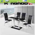 2013 Modern Latest Rectangle Tempered Glass Dining Table
