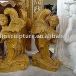 yellow marble antique carved table