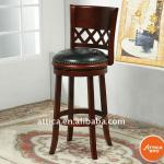 wooden leather swivel barstool-51024/29