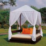 Lydia Popular Patio Rattan wicker set for balcony canopy Daybed Furniture-AR-L004
