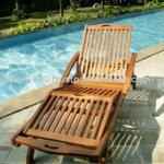 Teak Sun Lounger with armrest for teak furniture-AL 002