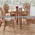Cane dining table and chairs / Antique Cane Chair-