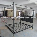 Vintage iron bed with square mosquito net-OL6044B