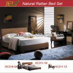 Rattan King size bamboo bed-HC311-16