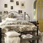Wrought iron bed-QY-005