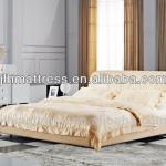Modern leather soft beds, king size leather bed frame-MP014