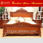 American antique wooden designs luxury furniture king size bed 052232-king size bed 052232