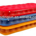 comfortable Flocked lamilated PVC air bed,transparent air bed-FF-2