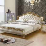 luxury soft bedroom leather bed with crystal JX-9092-D-JX-9092-D
