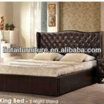 Morden soft leather sleeping bed frame-PSB-13