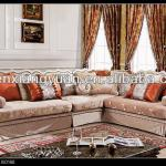 USA style corner classical sofa fabric sectional wooden sofa-wooden sofa-101