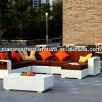 garden plastic rattan outdoor furniture sofa-K-6480